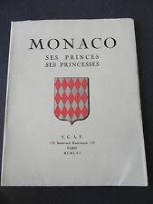 MONACO SES PRINCES SES PRINCESSES SGAF 1956