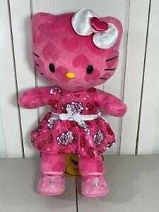 💜 Build A Bear Hello Kitty Pink Hearts Plush w/ New Dress & Bow 💜 Valentine's