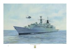 HMS CHATHAM A3 size art print from an original painting by Ross Watton