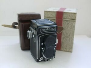 Rolleicord Vb Type 2 TLR with 75mm f3.5 Xenar, Synchro Compur + Cap, Case & Box