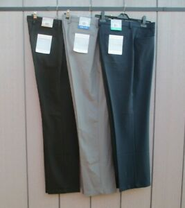 Mens Greg Norman Golf Stretch Travel Chino Pant Trouser Flat Front 34, 36 & 38 W