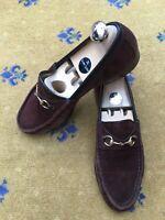 Gucci Womens Shoes Brown Suede Horsebit Loafers UK 7.5 US 9.5 EU 40.5 Ladies