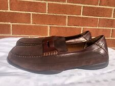 Hunters Bay suede Leather Collection Men's Brown Slip On Loafers Shoes 12M