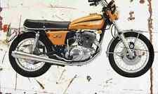 Yamaha TX750 1973 Aged Vintage SIGN A4 Retro