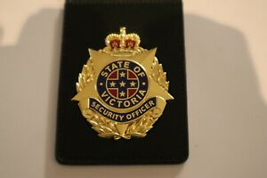 VIC & QLD S/O P/I L/P K-9/S/U BADGE & WALLET NON Gov issued GOLD ONLY
