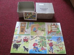 Queenswood Puzzles 19 piece Wooden Jigsaw Nursery Rhymes 6 - mini puzzles