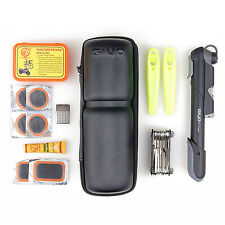 Bike Bicycle Cycling Multi-function Tool Repair Kit Set With Pump & Carry Bag