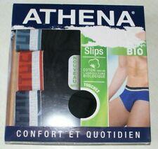 lot de 3 slips Athena neufs taille 2/S en coton bio