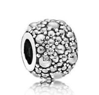 925 Sterling SHIMMERING DROPLETS SILVER fit European Charm Bead