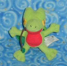 Ash Ketchum Treecko Pokemon Key Chain Plush Doll Toy with Clip Hasbro USA 2004