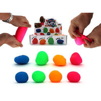 MOULDABLE SUPER CLAY STRESS BALL 6.5CM 1 PC ASSORTED COLOURS SHAPE STRETCH HOBBY
