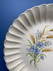 "2 Vintage American Limoges Wheatfield Warranted 22 K Gold Dinner Plates 10"" USA"