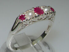 Unbranded Band Ruby Sterling Silver Fine Rings