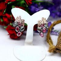 Grapes Grape Earrings Matte Silver Ox Vineyard Wine