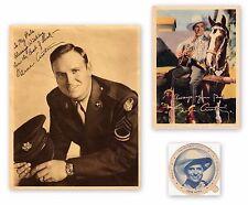 (2) Vintage GENE AUTRY Fan Club Photos & 1948 Swift's Ice Cream DIXIE LID