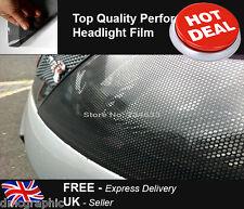 32x107cm Perforated Car Window Fly Eye Headlight Film Mesh One Way Vision Wrap