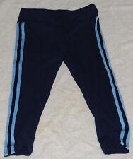Varsity Spirit ~ Stripped Dark Blue Cropped Leggings ~ Youth Medium~Cheerleading