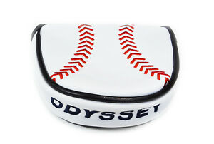 NEW Odyssey Limited Edition Baseball White/Red/Black Mallet Putter Headcover