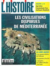 MAGAZINE L'HISTOIRE N° 265 DOSSIER LES CIVILISATIONS DISPARUES DE MEDITERRANEE