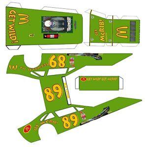 "#89 MCRIBr  Asphalt Modified Laminated Body Slot Car 4"" 1/24th"