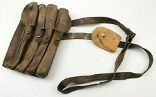 SERBIAN ARMY AMMO POUCH / SHOULDER BAG LEATHER (NO10)