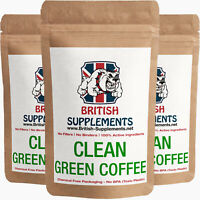 Clean Green Coffee Bean Strong Extract Capsules 5,688mg British Supplements UK