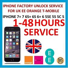 UNLOCK CODE SERVICE FOR iPhone 7 7 Plus 6S 6S Plus 6 SE 5S EE ORANGE T-MOBILE UK