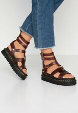 Dr Martens BNIB Adaira Cherry Red Leather Platform Sandals Uk3 Eu36 US5 Soldout