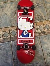 Mike Caroll Sanrio Hello Kitty Girl Skateboard Complete Royal Trucks Bones 2012