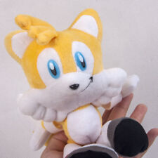 Sonic The Hedgehog Yellow Tails Plush Doll Soft Stuffed Figure Kids Toy - 8 In