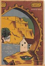 WWII MILITARY CENSOR MERS EL KEBIR FRENCH ALGERIA APO 525 ITALY POSTCARD 1944