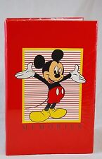 """NEW NOS Mickey Mouse Photo Album - 200 Easyfill Pockets - 4x6"""" Pictures - Holson"""