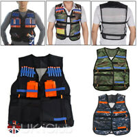 Adjustable Nerf Tactical Vest Jacket For Nerf N-Strike Elite Darts Clips Game US
