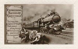 BIRTHDAY - Train Expressing Birthday Greetings