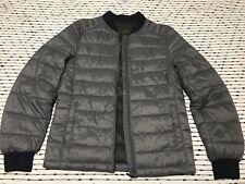 H&M Forever 21 Zara Men's Gray Grey Winter Puff Puffer Bomber Jacket Fashion