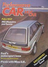 Performance Car magazine Issue 2 11/1983 featuring BMW Alpina, MG Maestro