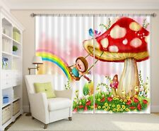 3D Grassland Kid 8 Blockout Photo Curtain Print Curtains Drapes Fabric Window AU