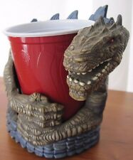 1998 Godzilla Cup Drink Holder Hard Plastic Large Car Door Dragon Dinosaur