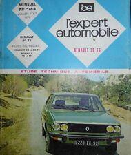 Revue technique RENAULT 30 TS 2664 cm3 R 1273 RTA EXPERT 123 1976