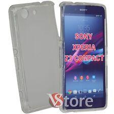 Cover Custodia Per Sony Xperia Z3 Compact Mini D5803 Trasparente Gel + Pellicola