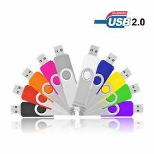 64GB USB 2.0 Swivel USB Stick Flash Pen Drive Memory Stick U Disk 1MB-32GB Lot