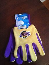 NBA LOS ANGELES LAKERS GLOVES KIDS YOUTH SIZE TWO-TONE NEW