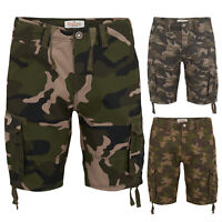 Mens Cargo Combat Shorts Army Stallion Casual Cotton Work Camouflage Pants New