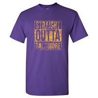 Straight Outta Baltimore Unisex T Shirt - Purple