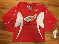 Reebok Detroit RedWings NHL Red & White Practice Rosenthal Jersey Size Med. New