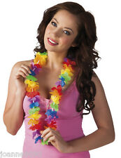 hawaïen Déguisement Fleur LEI COLLIER GUIRLANDE Hula Fête accessoire BN