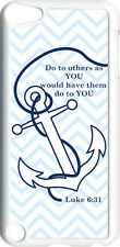 Chevron Faith Anchor with Luke 6:31 on iPod Touch 5th Gen 5G White TPU Case
