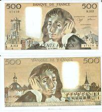Gertbrolen 500 FRANCS PASCAL du 1-2-1990    R. 312 Billet Numéro  779147410