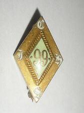 Antique 14K Gold 99 Hole Golf Club Enamel Pin Made By Dieges Clust Ny
