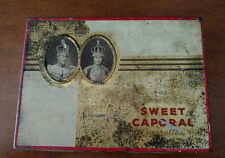 Vintage Sweet Caporal Tobacco Tin Cigarette Flat 50 Kinney Bros Cigarettes Engla